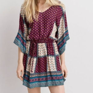 American Eagle Outfitters Patchwork Boho Dress